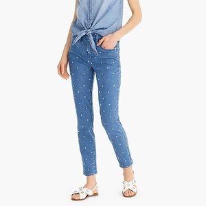 J. Crew Vintage Straight Jean in scattered dot